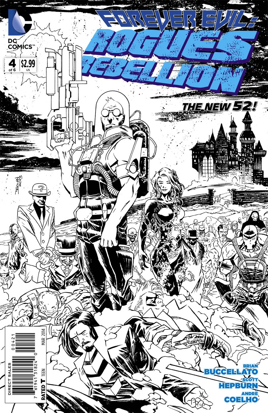 Forever Evil Rogues Rebellion #4 Cover B Incentive Declan Shalvey Sketch Cover