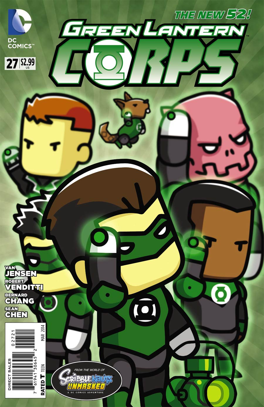 Green Lantern Corps Vol 3 #27 Cover B Incentive Scribblenauts Unmasked Variant Cover