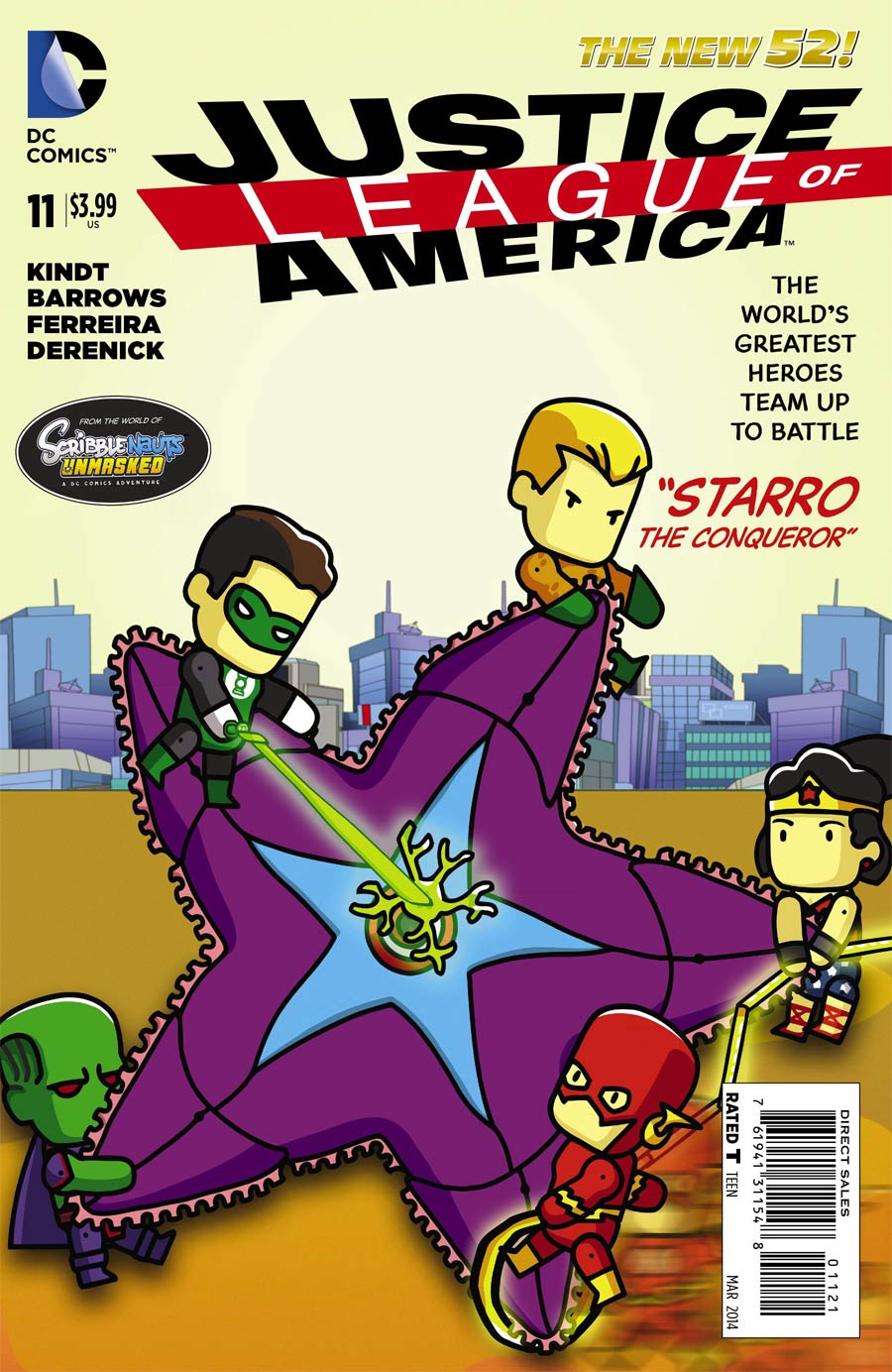 Justice League Of America Vol 3 #11 Cover E Incentive Scribblenauts Unmasked Variant Cover (Forever Evil Tie-In)