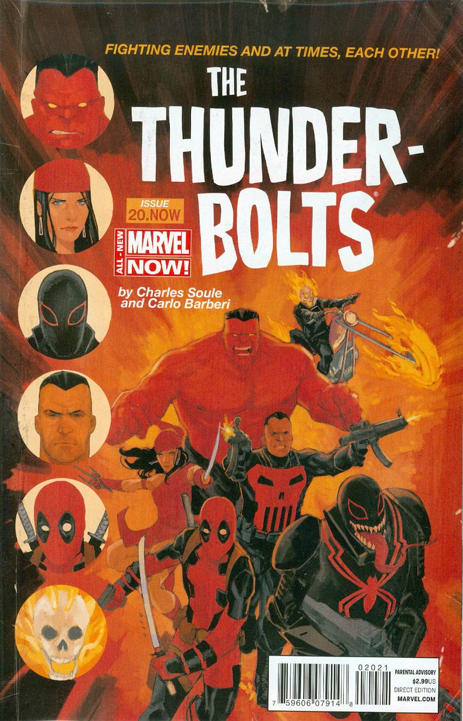 Thunderbolts Vol 2 #20.NOW Cover D Incentive Phil Noto Color Variant Cover