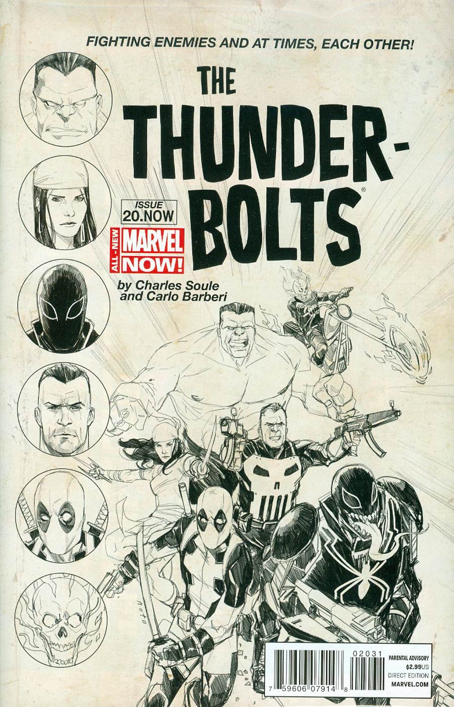 Thunderbolts Vol 2 #20.NOW Cover E Incentive Phil Noto Sketch Variant Cover