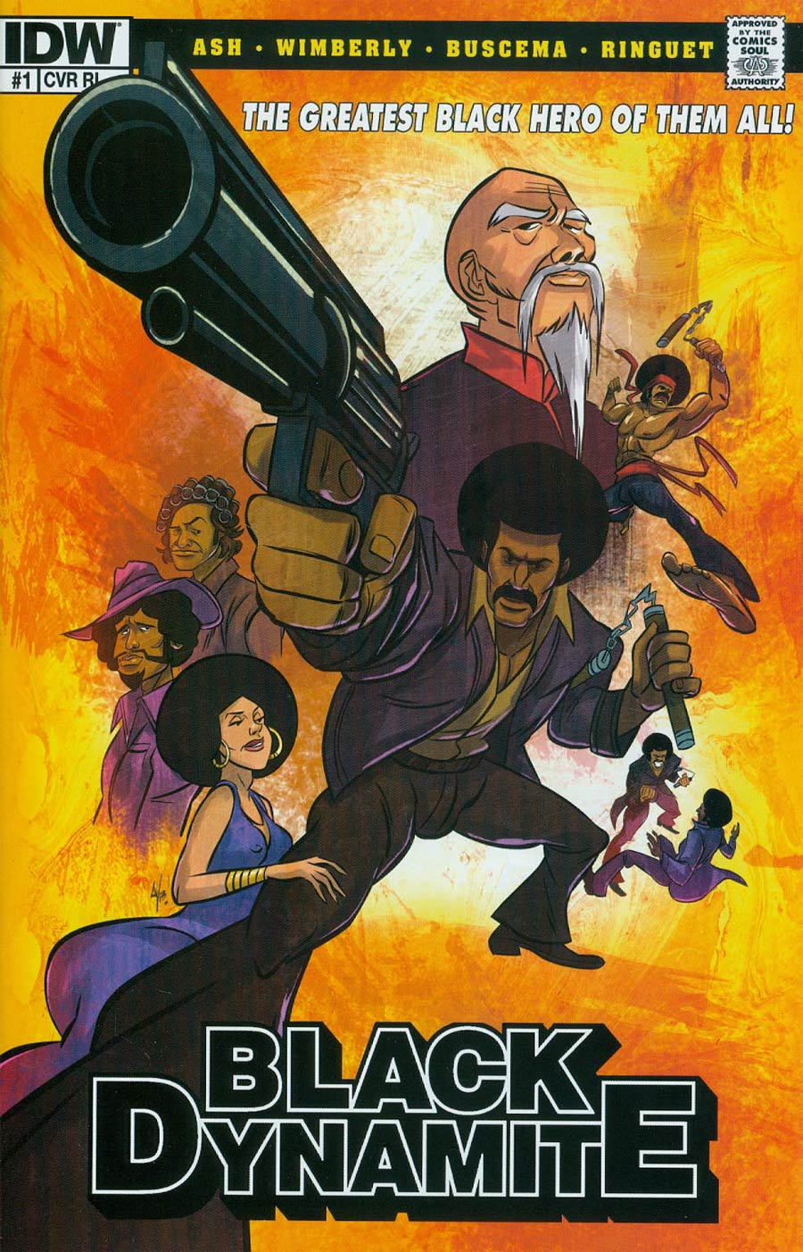 Black Dynamite #1 Cover C Incentive Six Point Harness Studios IDW Gets Animated Variant Cover