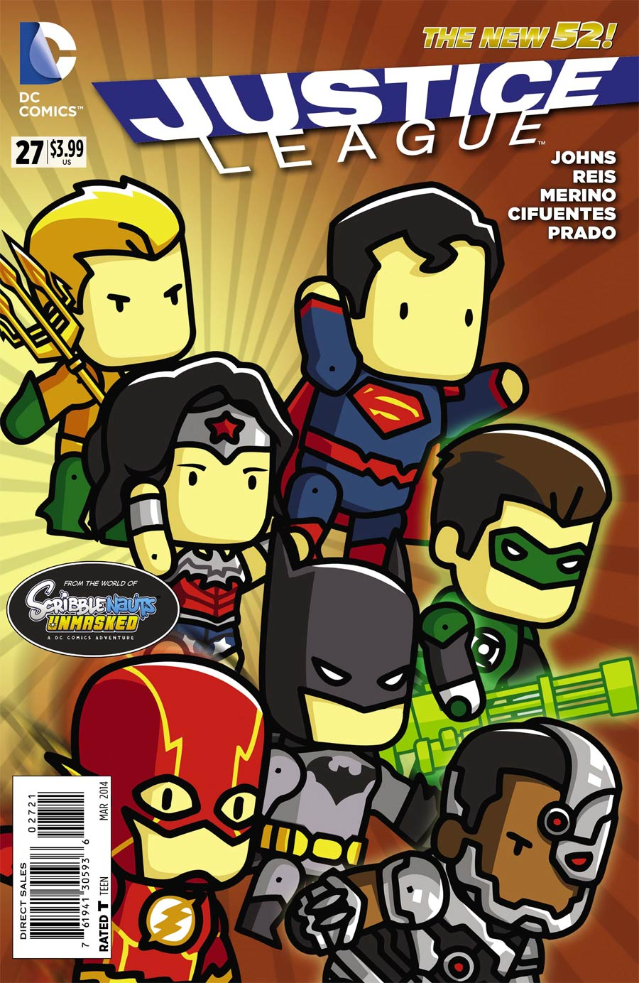 Justice League Vol 2 #27 Cover D Incentive Scribblenauts Unmasked Variant Cover (Forever Evil Tie-In)