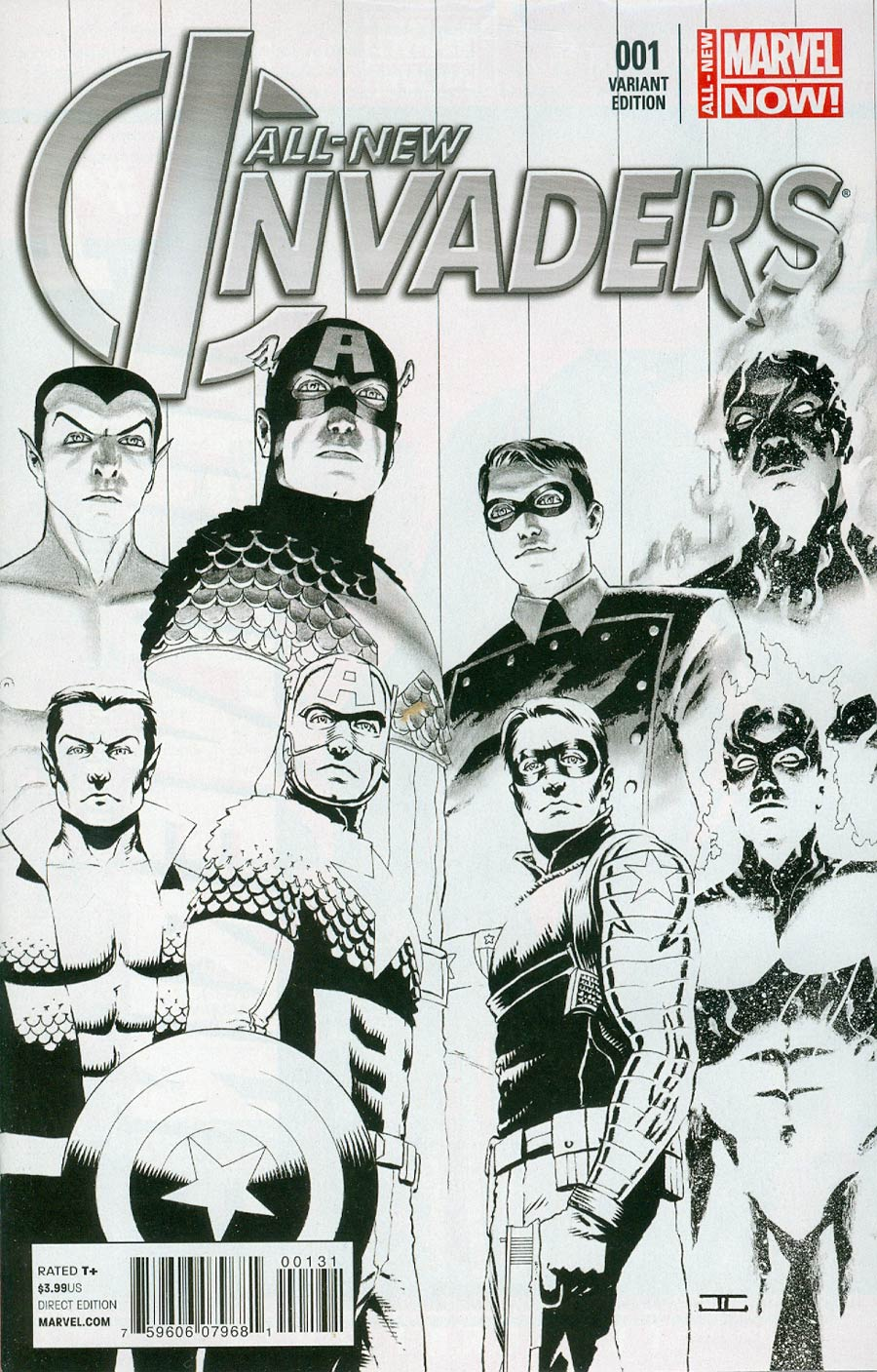 All-New Invaders #1 Cover F Incentive John Cassaday Sketch Variant Cover