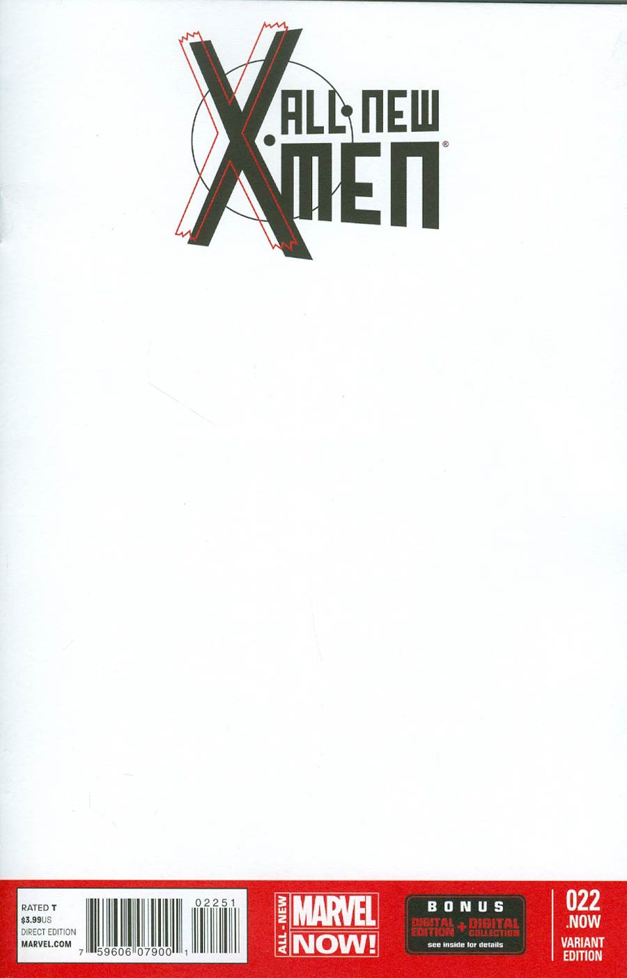 All-New X-Men #22 NOW Cover B Variant Blank Cover (Trial Of Jean Grey Part 1)