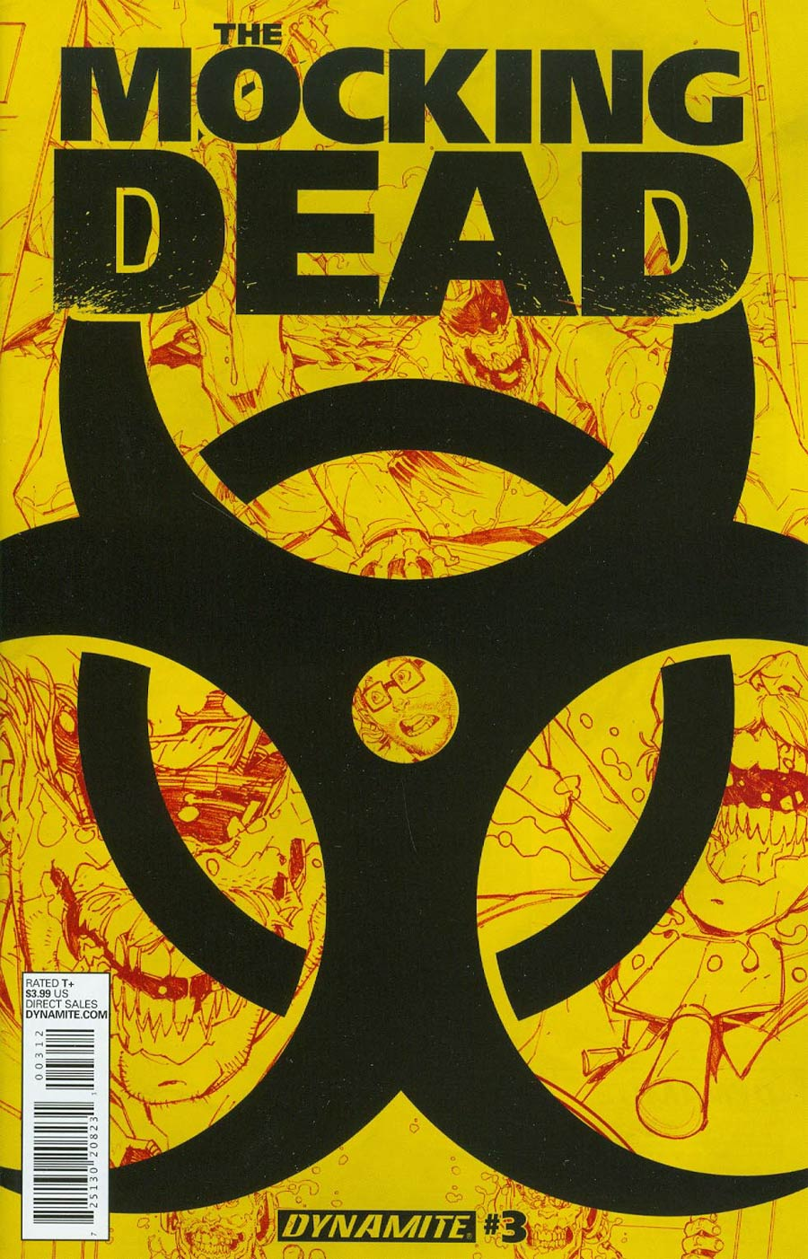 Mocking Dead #3 Cover C 2nd Ptg Yellow Hazard Cover