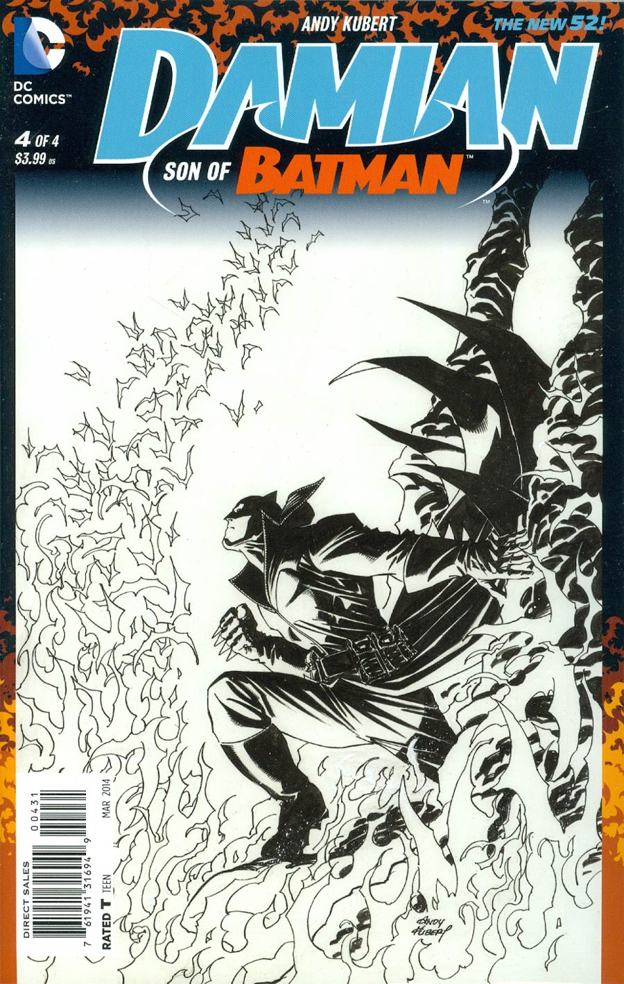 Damian Son Of Batman #4 Cover C Incentive Andy Kubert Sketch Cover