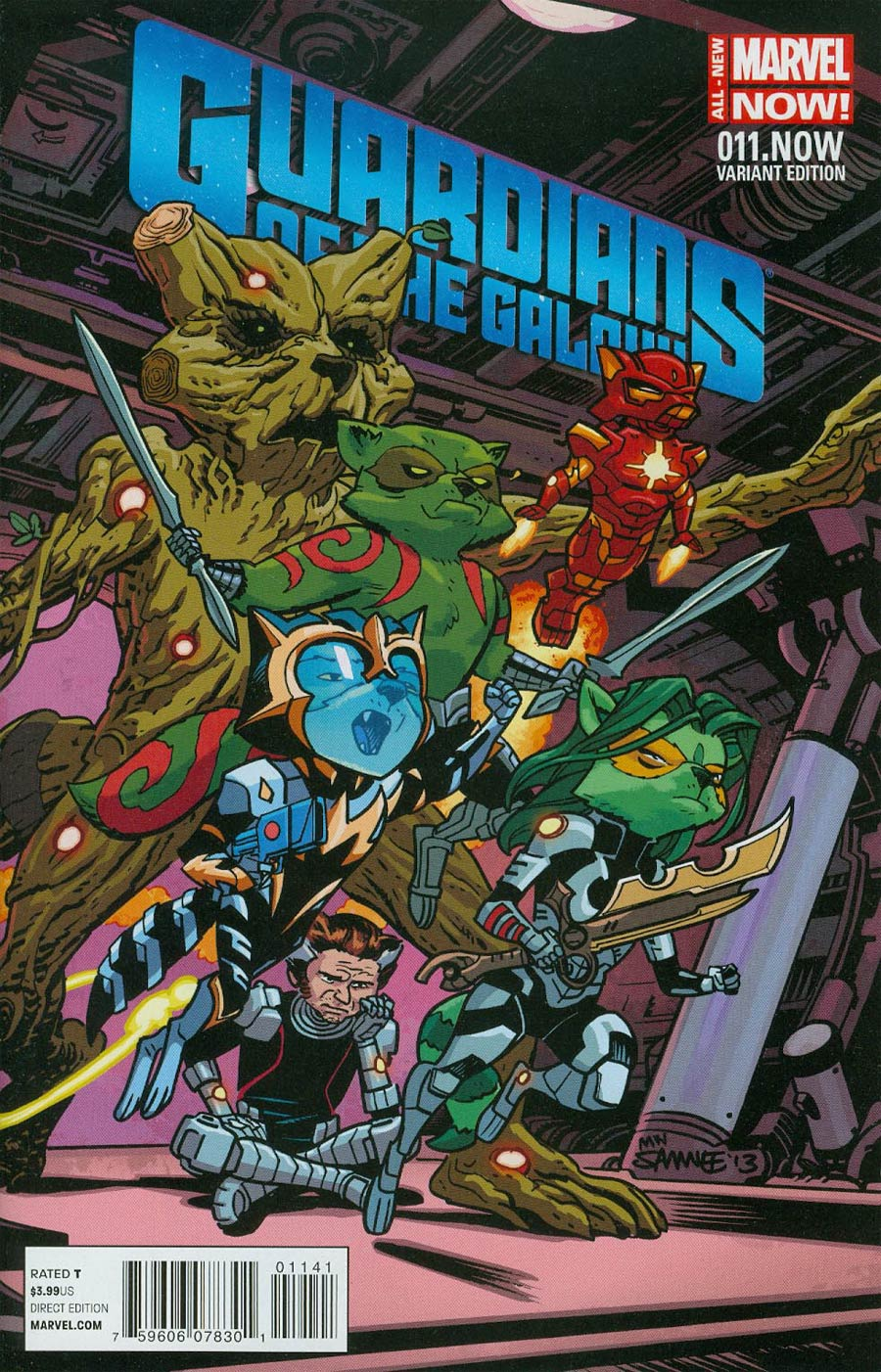 Guardians Of The Galaxy Vol 3 #11.NOW Cover C Incentive Chris Samnee Animal Variant Cover (Trial Of Jean Grey Part 2)