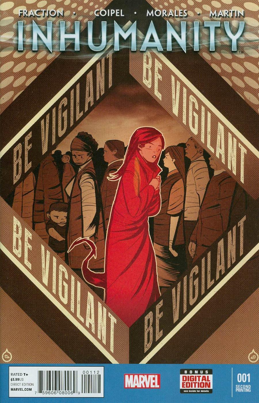 Inhumanity #1 Cover E 2nd Ptg Juan Doe Variant Cover