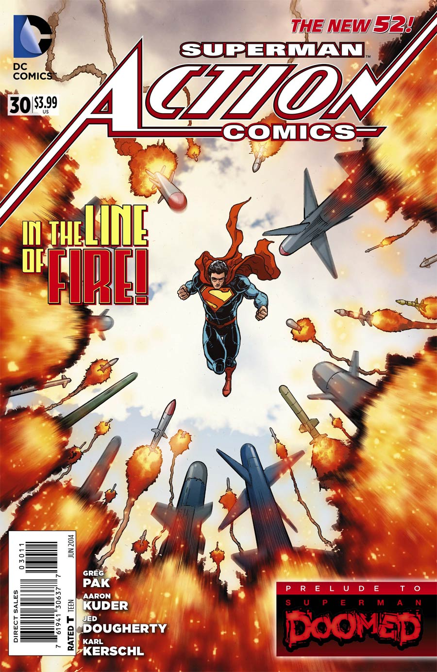 Action Comics Vol 2 #30 Cover A Regular Aaron Kuder Cover (Superman Doomed Prelude)