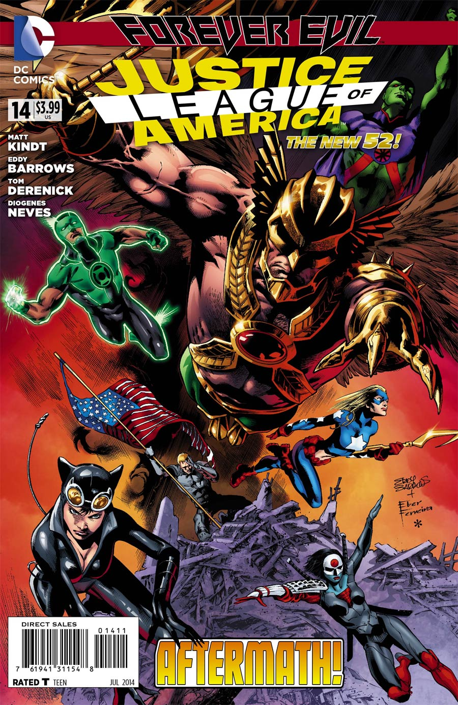 Justice League Of America Vol 3 #14 Cover A Regular Eddy Barrows Cover (Forever Evil Aftermath)