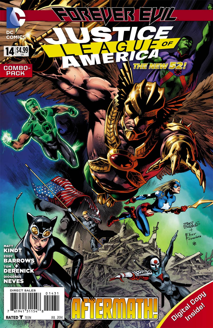Justice League Of America Vol 3 #14 Cover B Combo Pack With Polybag (Forever Evil Aftermath)
