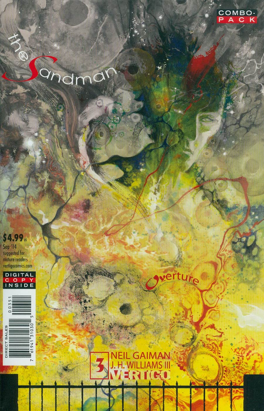 Sandman Overture #3 Cover C Combo Pack With Polybag