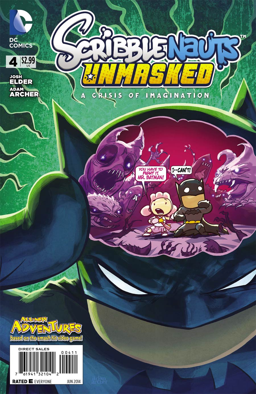 Scribblenauts Unmasked Crisis Of Imagination #4 Cover A Regular Adam Archer Cover