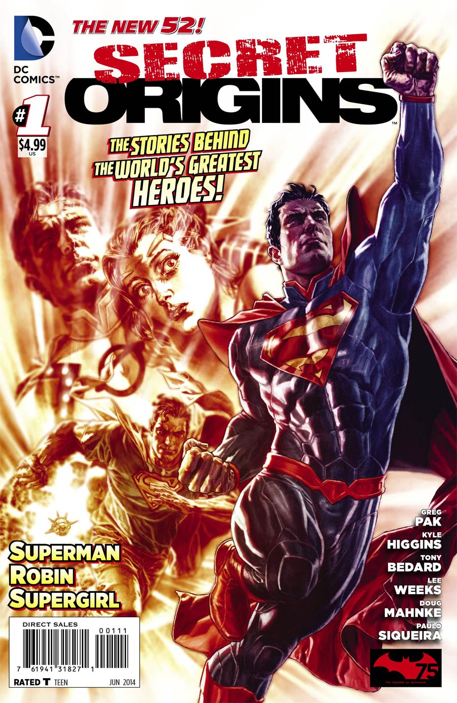 Secret Origins Vol 4 #1 Cover A Regular Lee Bermejo Cover