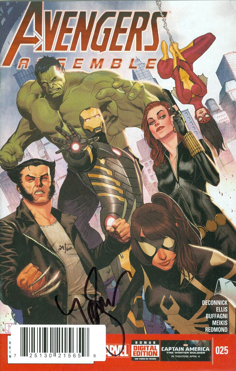 Avengers Assemble #25 Cover B DF Signed By Kelly Sue DeConnick