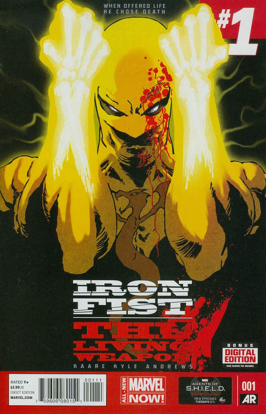 Iron Fist Living Weapon #1 Cover A 1st Ptg Regular Kaare Andrews Cover
