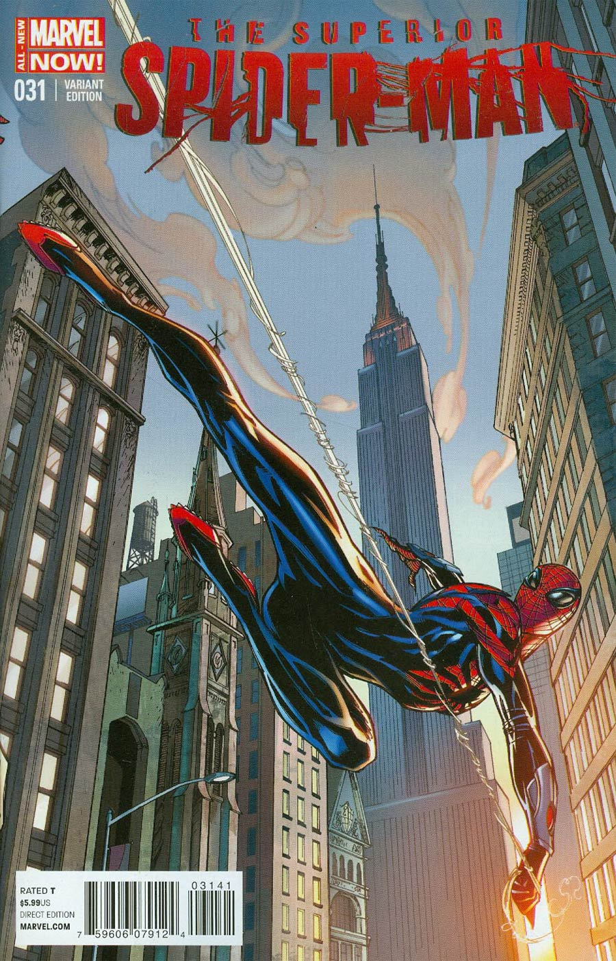 Superior Spider-Man #31 Cover D Variant J Scott Campbell Connecting Cover (1 Of 2)
