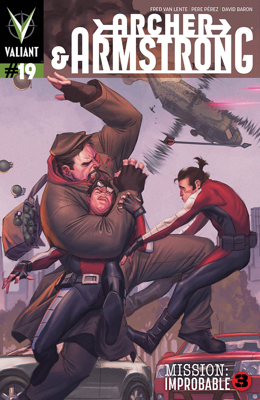 Archer & Armstrong Vol 2 #19 Cover B Variant Jorge Molina Interlocking Pullbox Cover (Mission Improbable Part 3)
