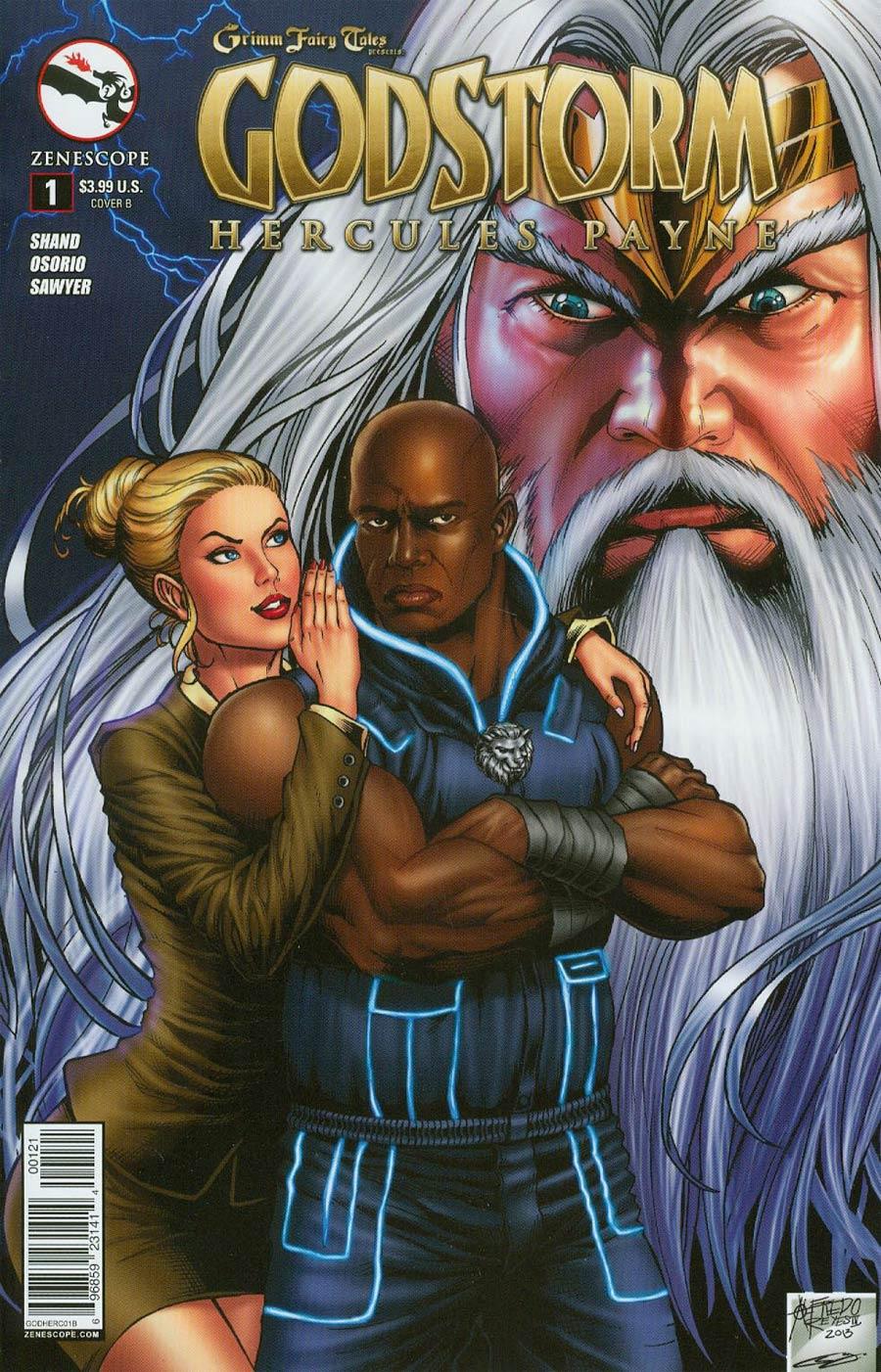 Grimm Fairy Tales Presents Godstorm Hercules Payne #1 Cover B Alfredo Reyes