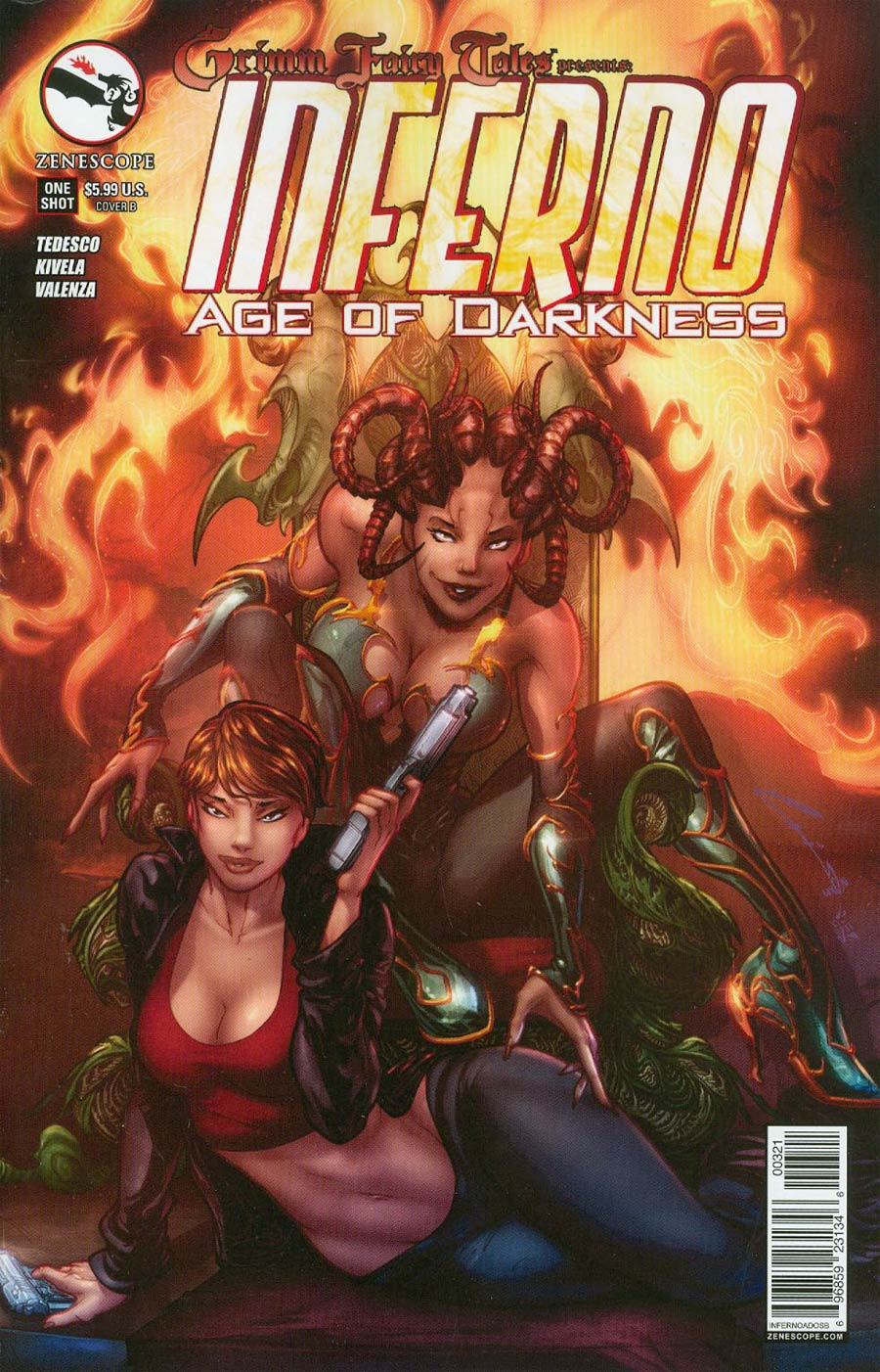 Grimm Fairy Tales Presents Inferno Age Of Darkness One Shot Cover B Emilio Laiso