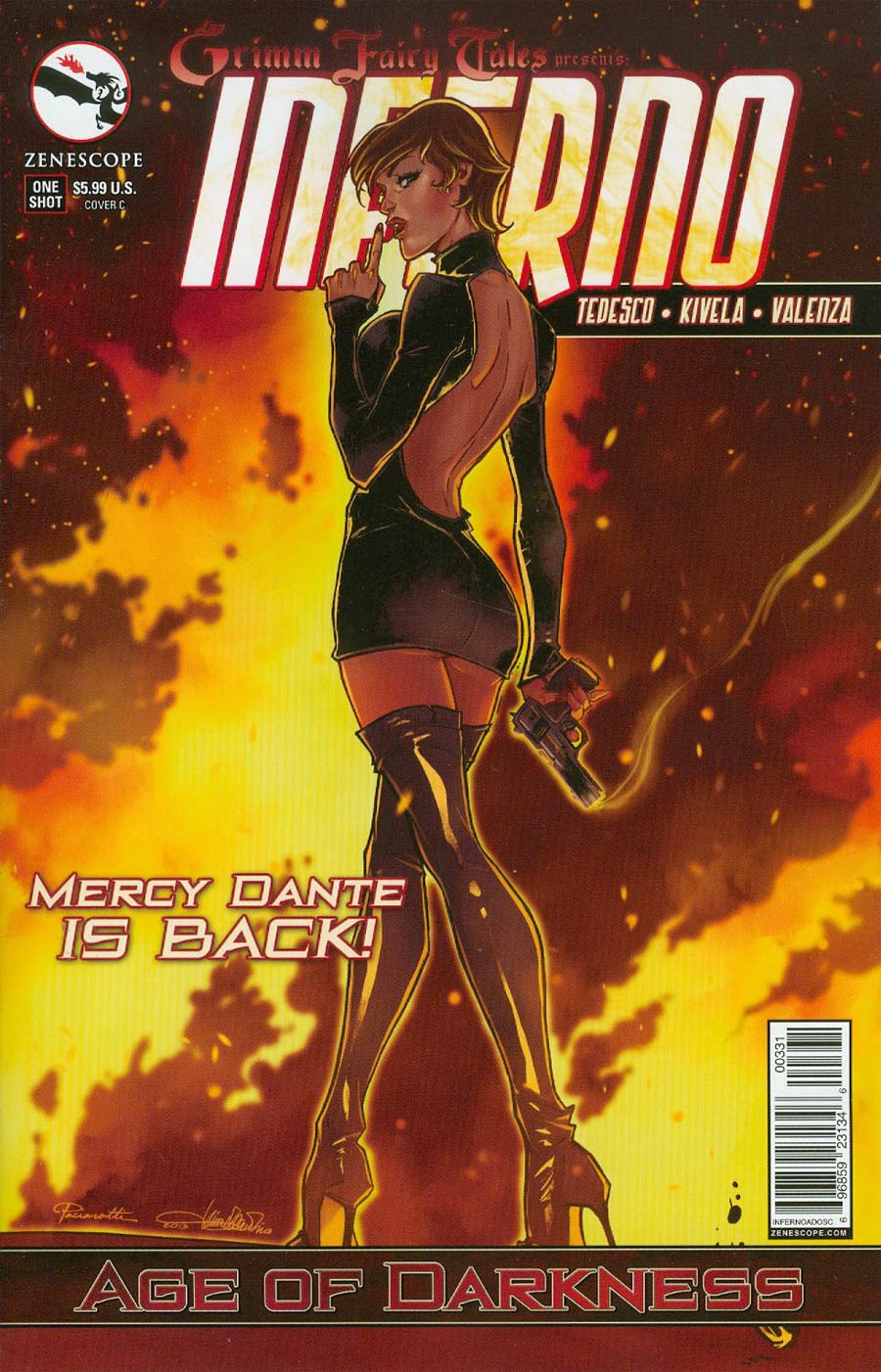 Grimm Fairy Tales Presents Inferno Age Of Darkness One Shot Cover C Tina Valentino