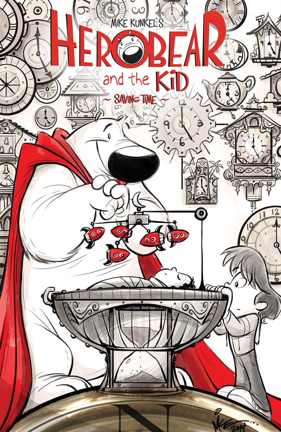 Herobear And The Kid Saving Time #1 Cover A Regular Mike Kunkel Cover