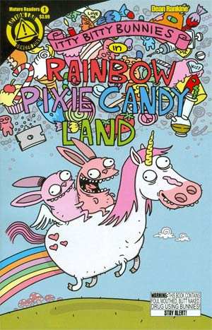Itty Bitty Bunnies In Rainbow Pixie Candy Land #1 Cover A Regular Dean Rankine Cover