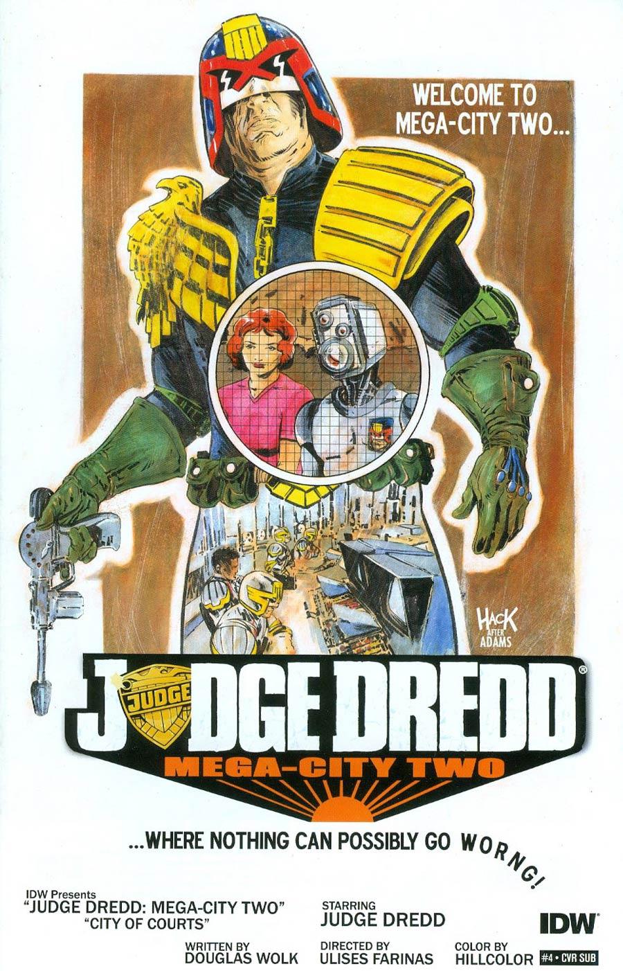 Judge Dredd Mega-City Two #4 Cover B Variant Robert Hack Subscription Cover
