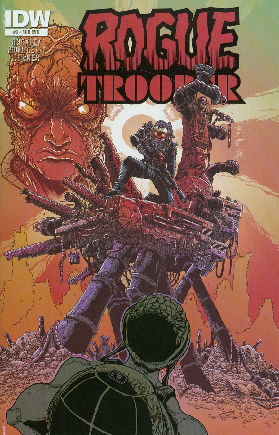 Rogue Trooper Vol 2 #3 Cover B Variant James Stokoe Subscription Cover