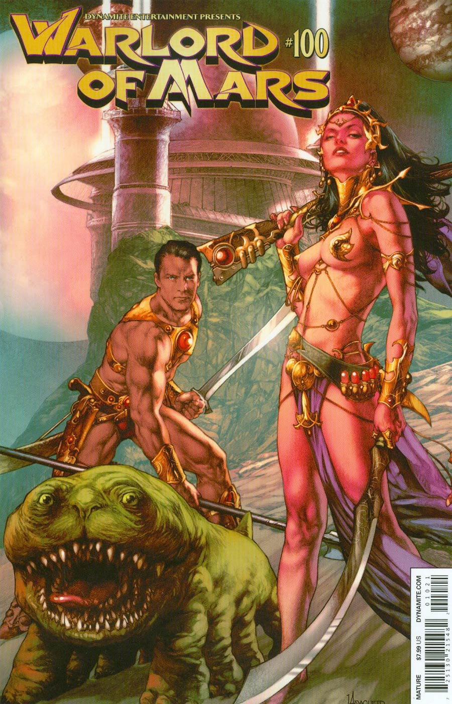 Warlord Of Mars #100 Cover B Variant Jay Anacleto Cover