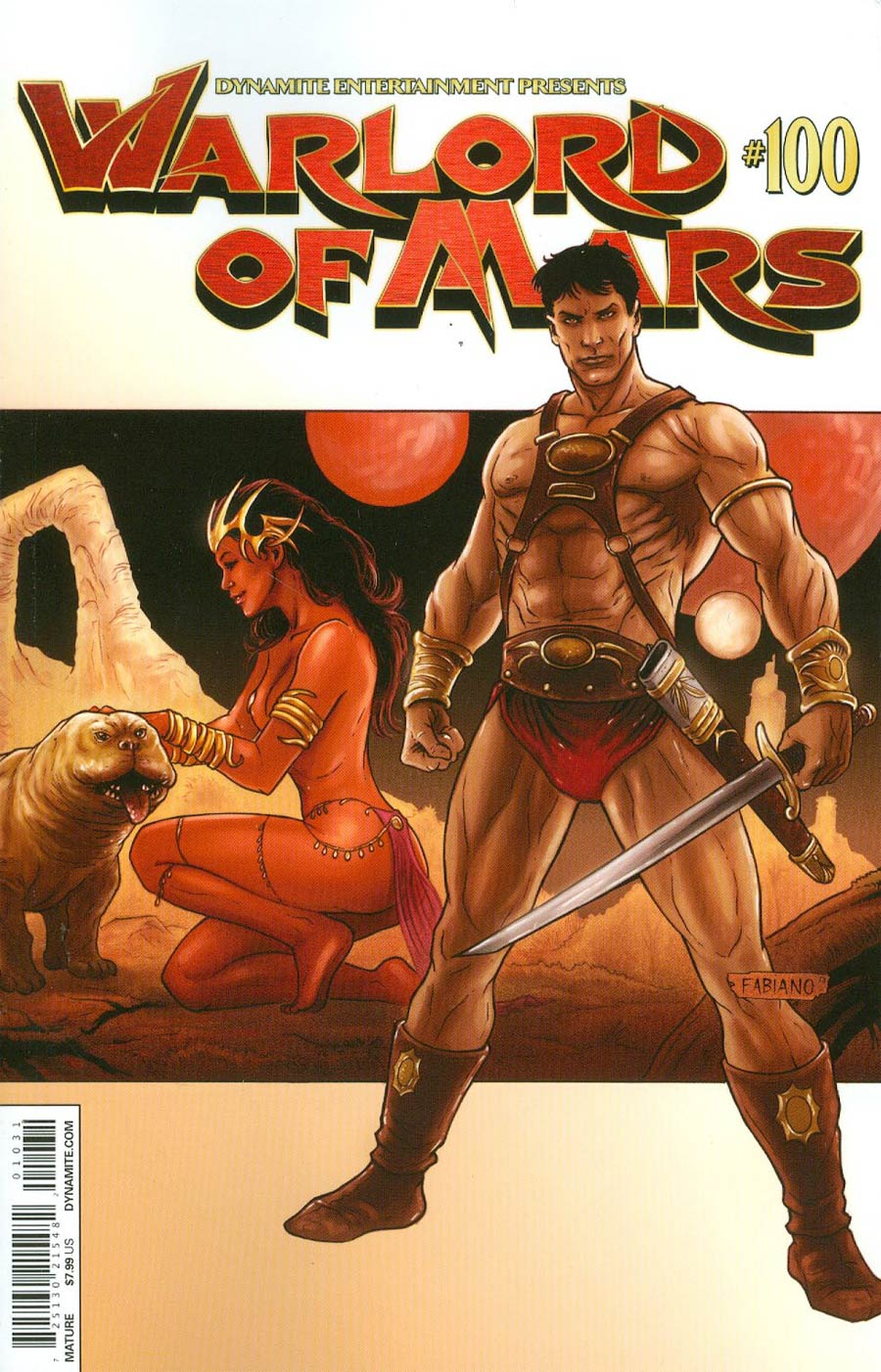 Warlord Of Mars #100 Cover C Variant Fabiano Neves Cover