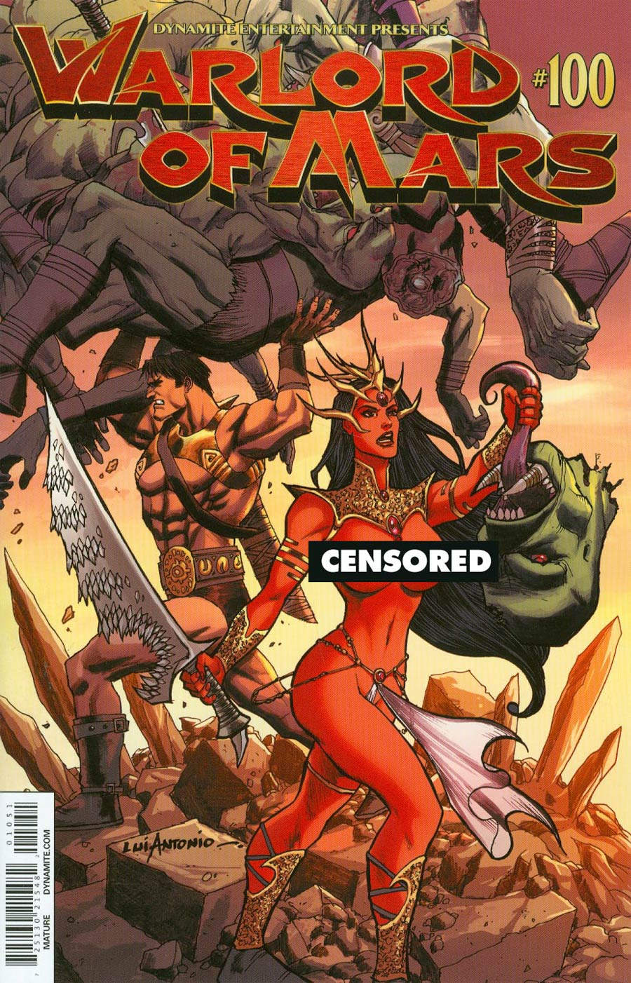 Warlord Of Mars #100 Cover F Variant Lui Antonio Risque Variant Cover