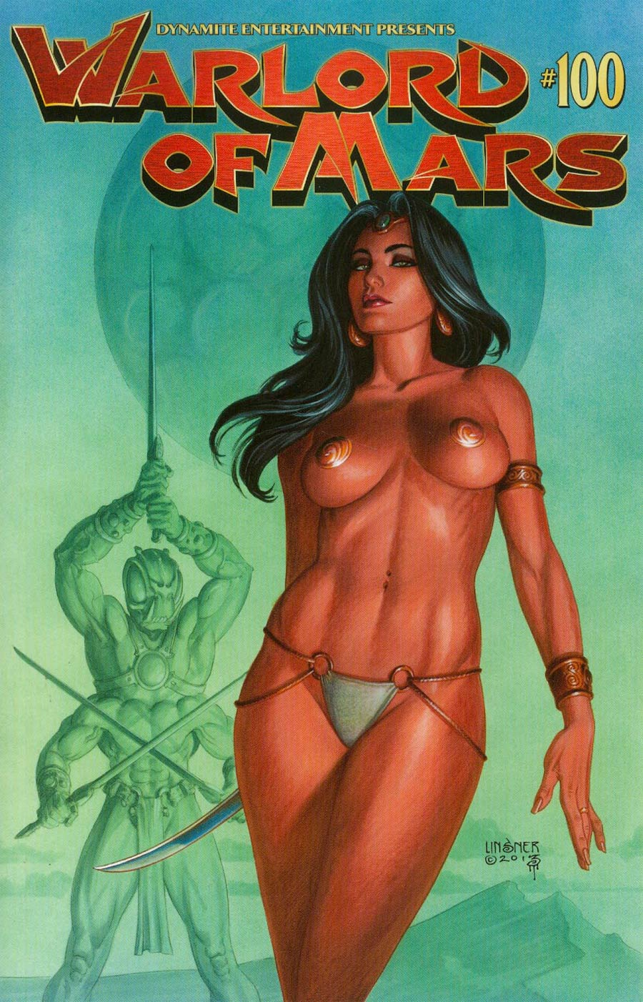 Warlord Of Mars #100 Cover A Regular Joseph Michael Linsner Cover