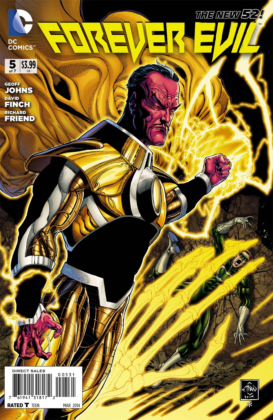 Forever Evil #5 Cover E Incentive Ethan Van Sciver Sinestro Variant Cover