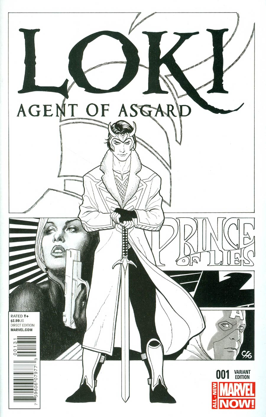 Loki Agent Of Asgard #1 Cover D Incentive Frank Cho Sketch Variant Cover
