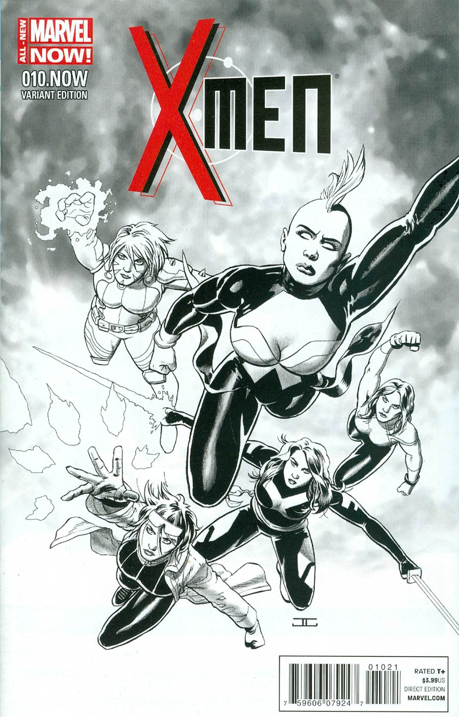 X-Men Vol 4 #10.NOW Cover D Incentive John Cassaday Sketch Variant Cover