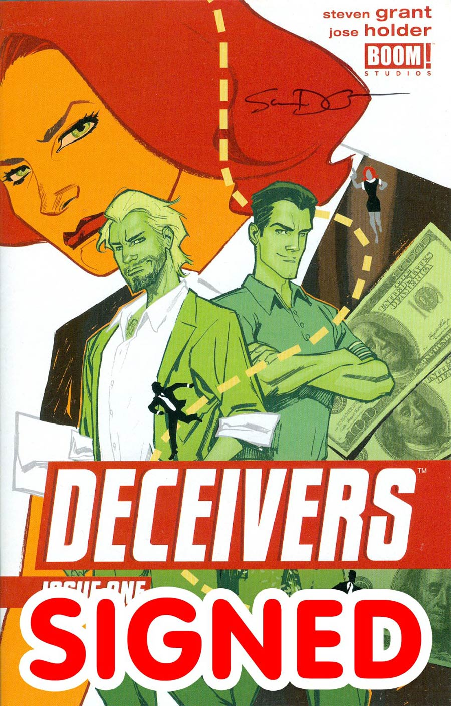 Deceivers #1 Cover B Incentive Signed By Steven Grant