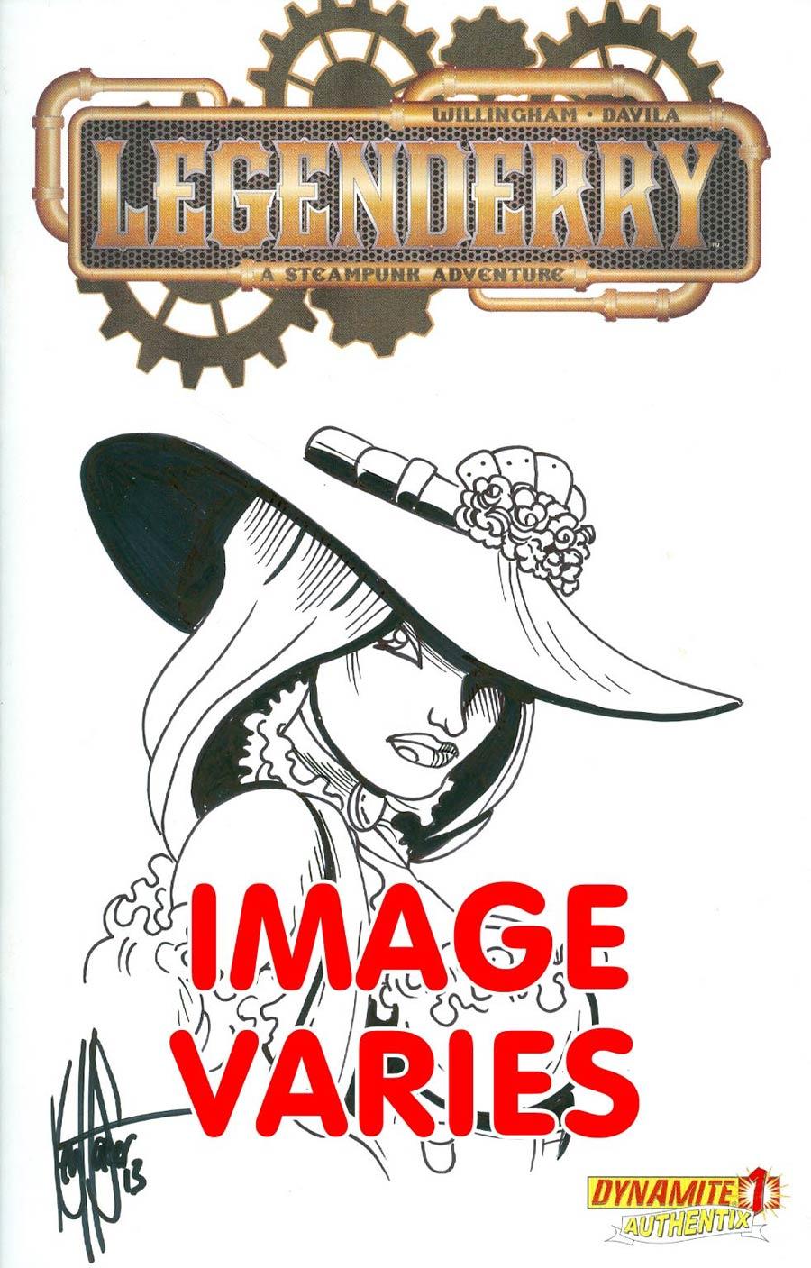 Legenderry A Steampunk Adventure #1 Cover F Incentive Original Art Exclusive Steampunk Sketch Variant Cover