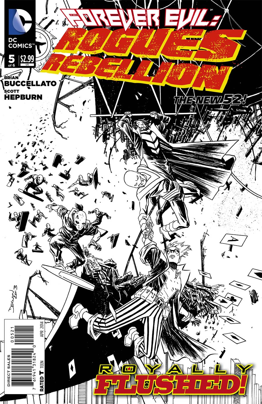 Forever Evil Rogues Rebellion #5 Cover B Incentive Declan Shalvey Sketch Cover