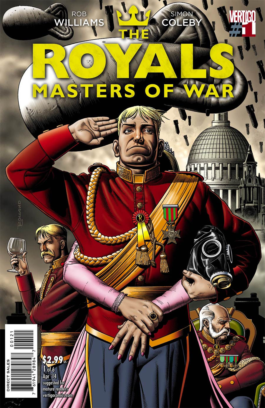 Royals Masters Of War #1 Cover B Incentive Brian Bolland Variant Cover