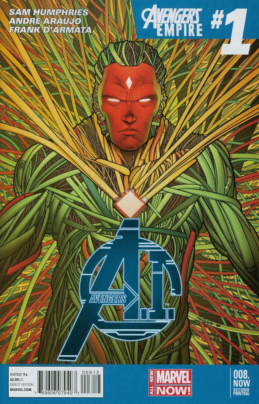 Avengers AI #8.NOW Cover E 2nd Ptg David Marquez Variant Cover
