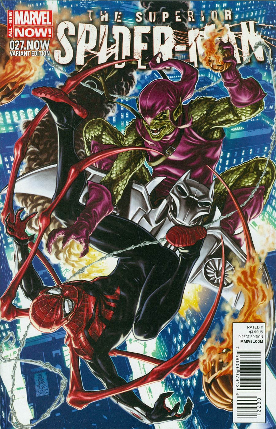 Superior Spider-Man #27.NOW Cover D Incentive Mark Brooks Color Variant Cover