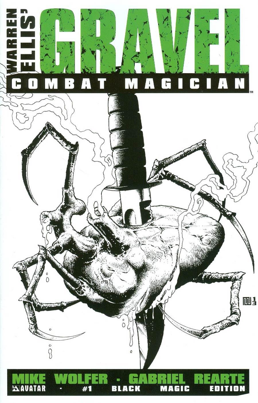 Gravel Combat Magician #1 Cover D Incentive Black Magic Cover