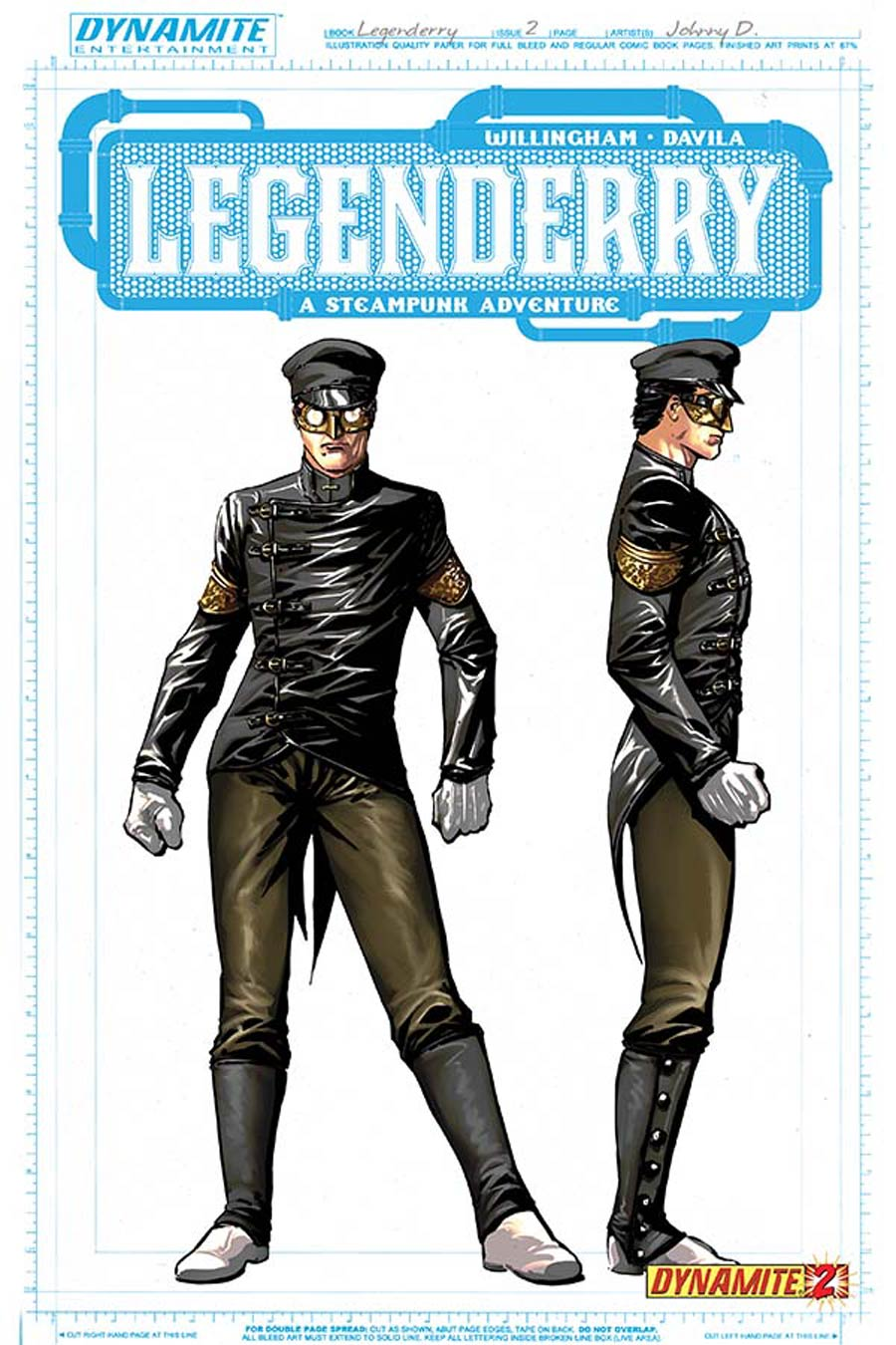Legenderry A Steampunk Adventure #2 Cover C Incentive Johnny Desjardins Kato Concept Art Variant Cover