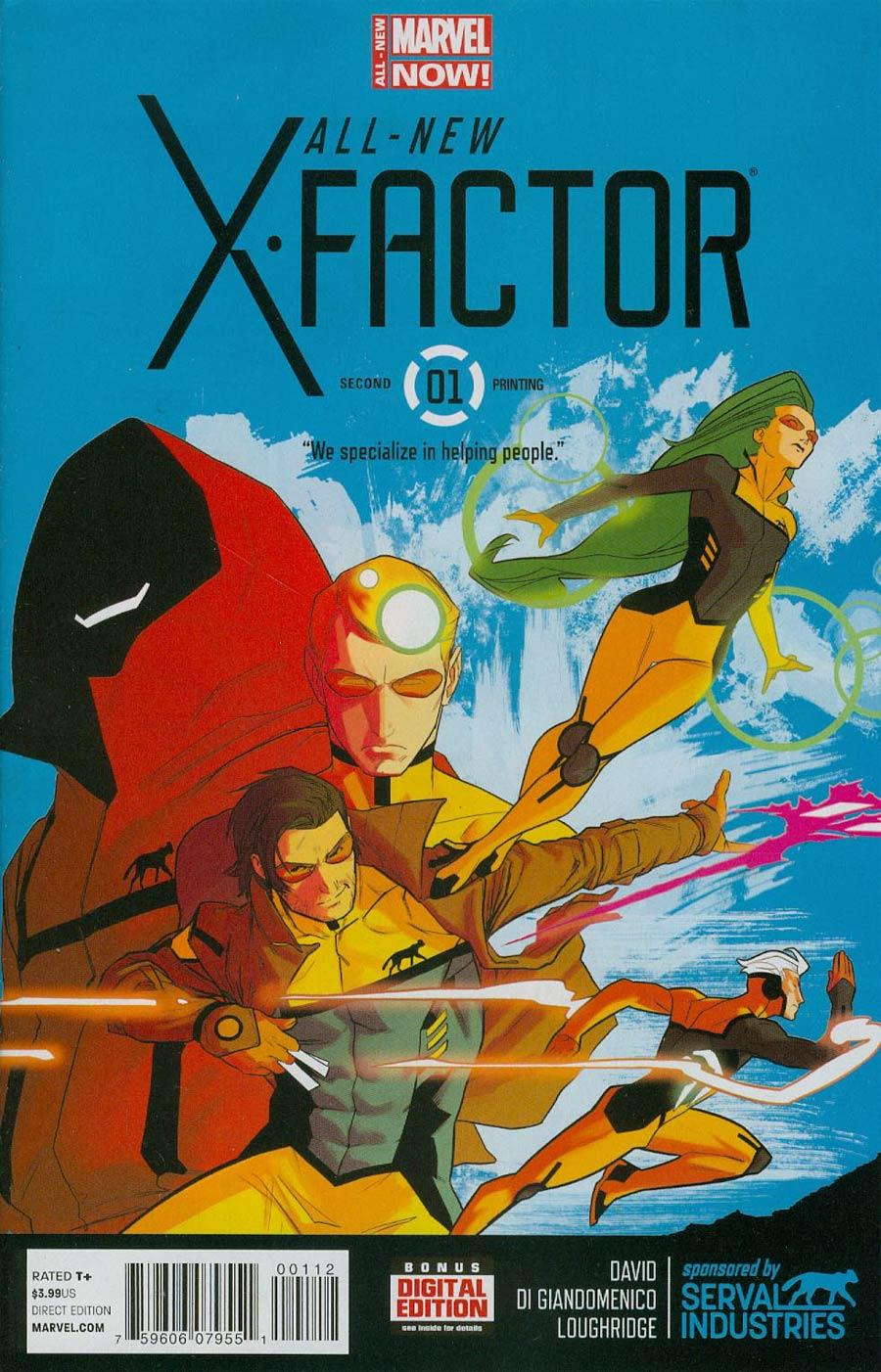All-New X-Factor #1 Cover G 2nd Ptg Kris Anka Variant Cover