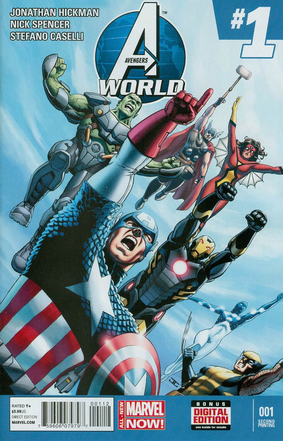 Avengers World #1 Cover I 2nd Ptg John Cassaday Variant Cover
