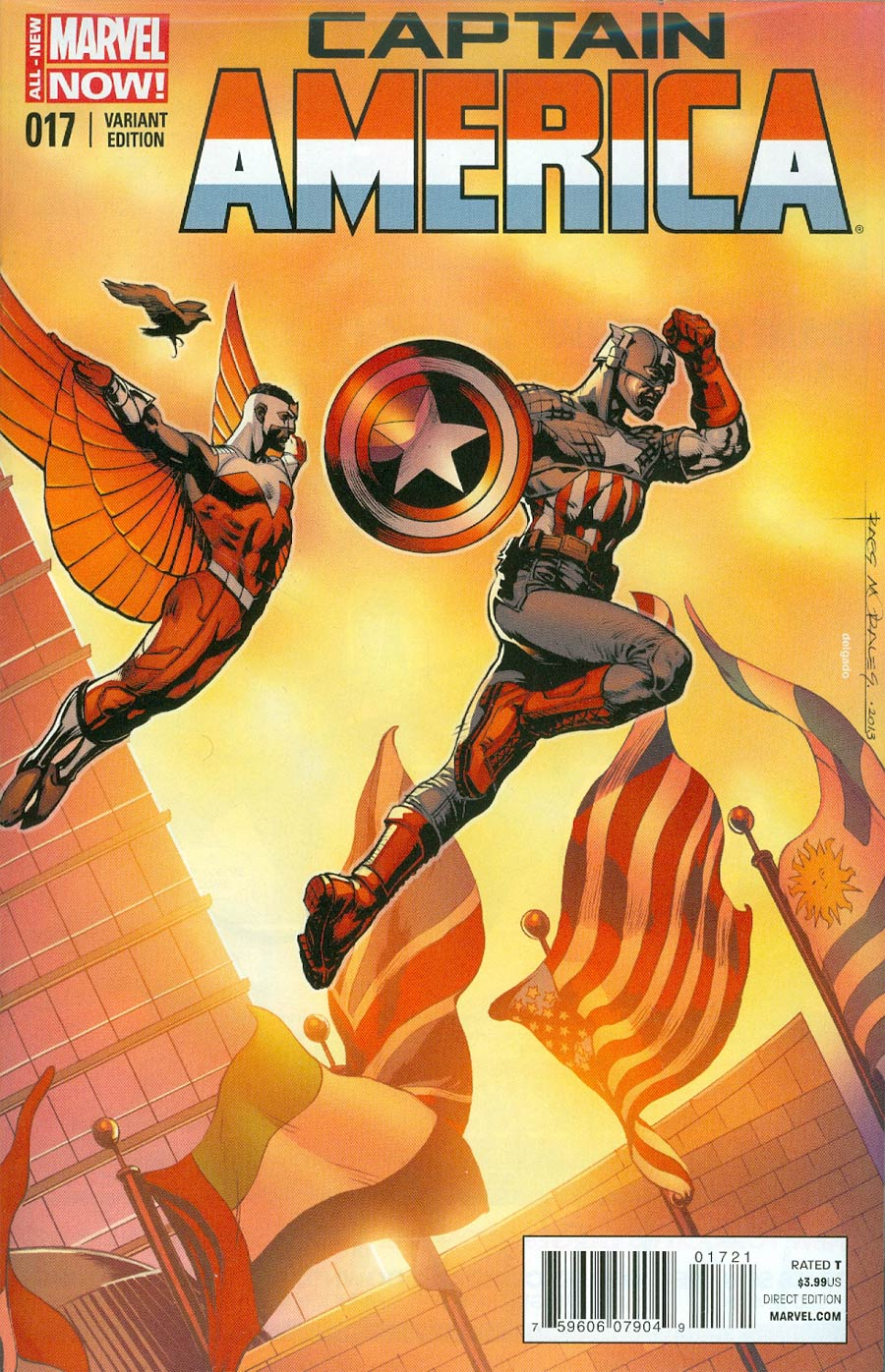 Captain America Vol 7 #17 Cover B Incentive Rags Morales Variant Cover