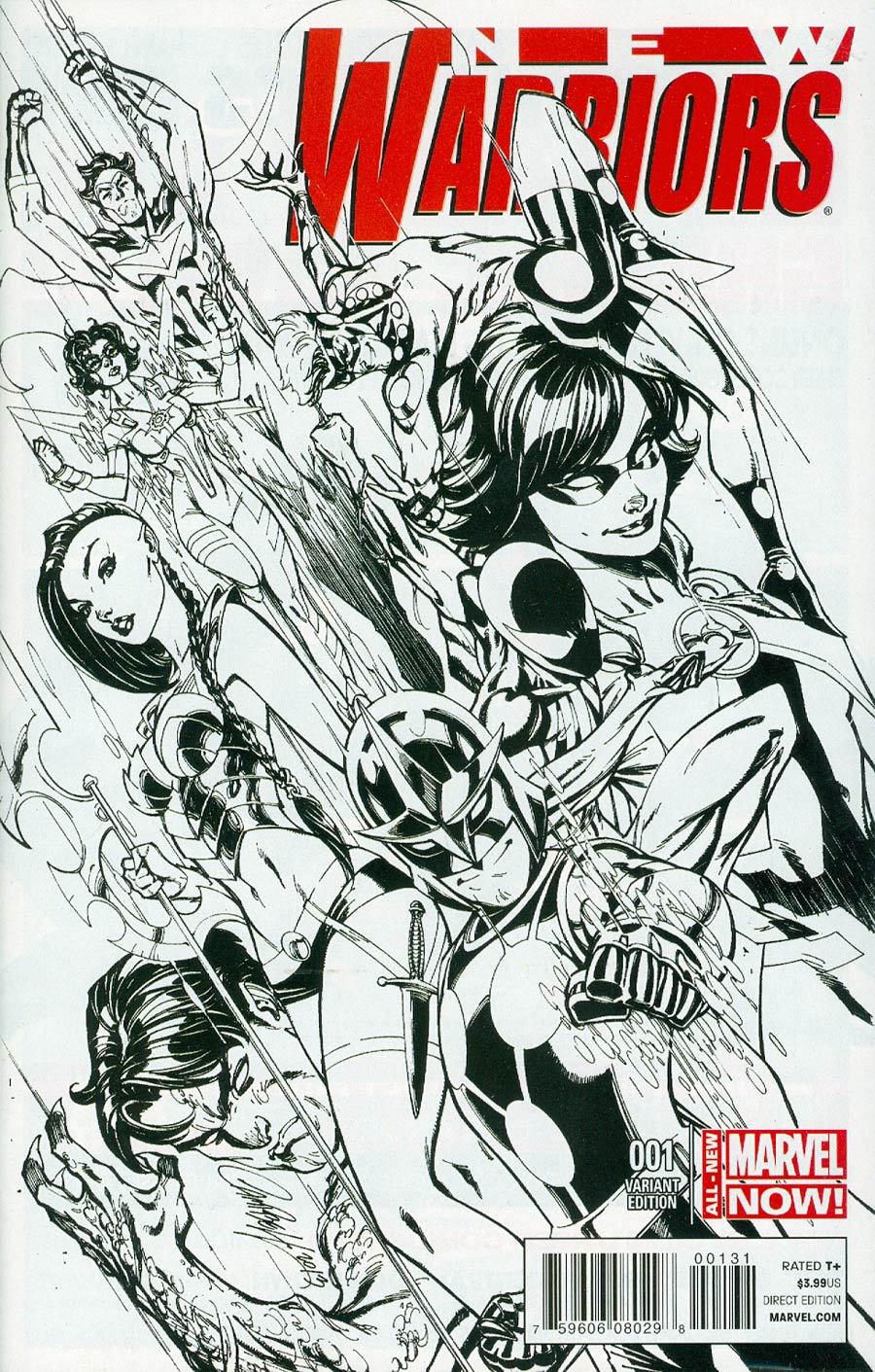 New Warriors Vol 5 #1 Cover E Incentive J Scott Campbell Sketch Variant Cover