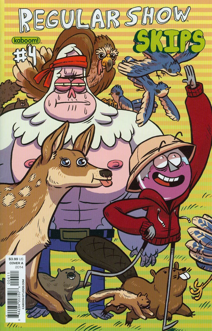 Regular Show Skips #4 Cover A Regular Mad Rupert Cover